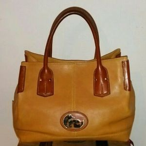 Authentic brown & tan Dooney & Bourke tote